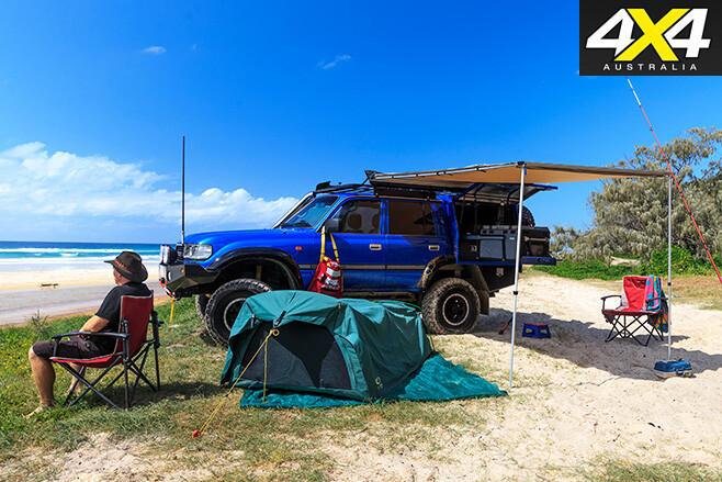 Custom toyota 80-series land cruiser camping