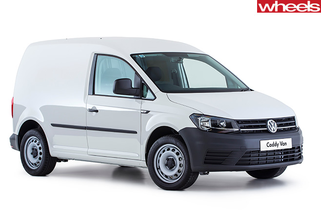 VW-Caddy -front -white