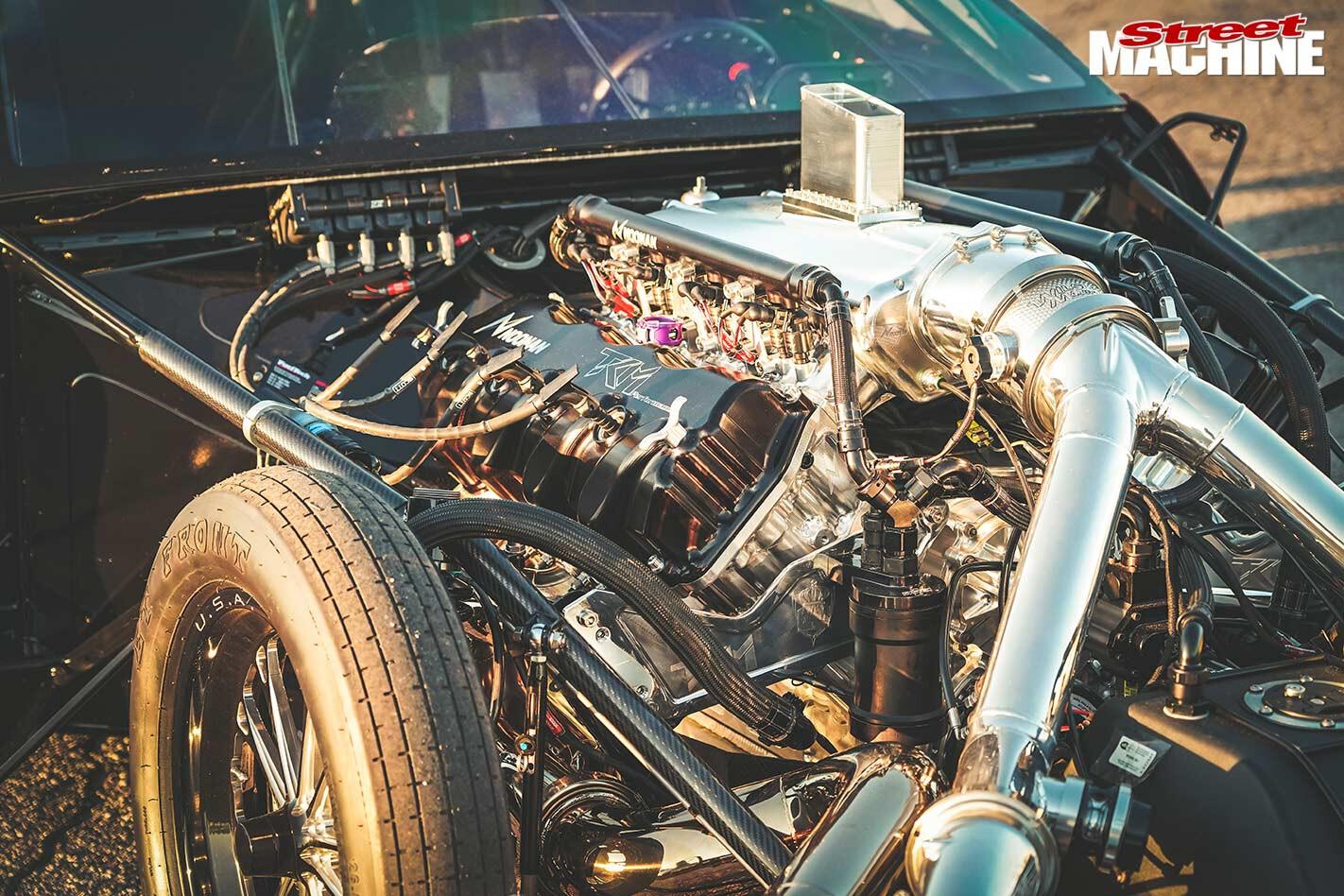 Jarrod Wood's C7 Corvette engine