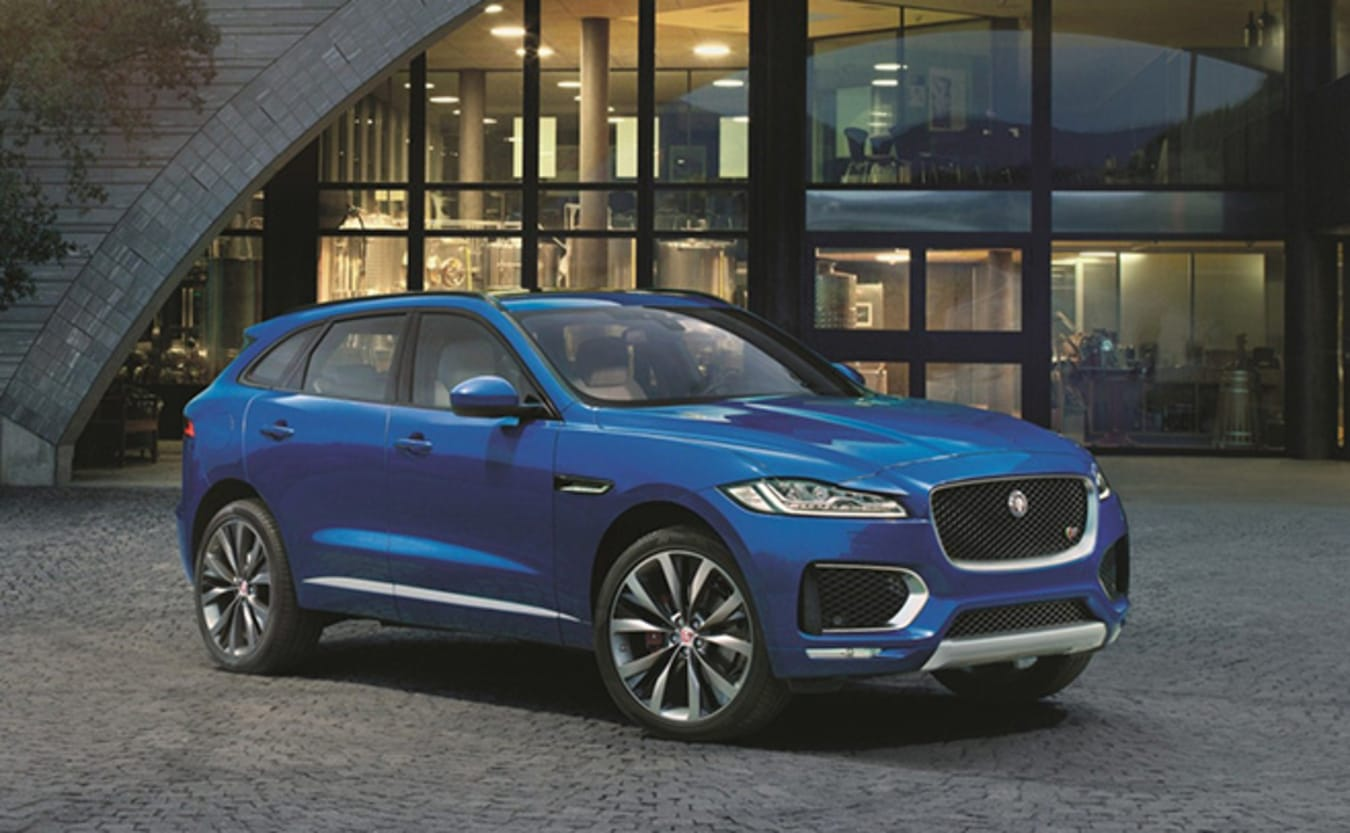 Jaguar F-Pace at night