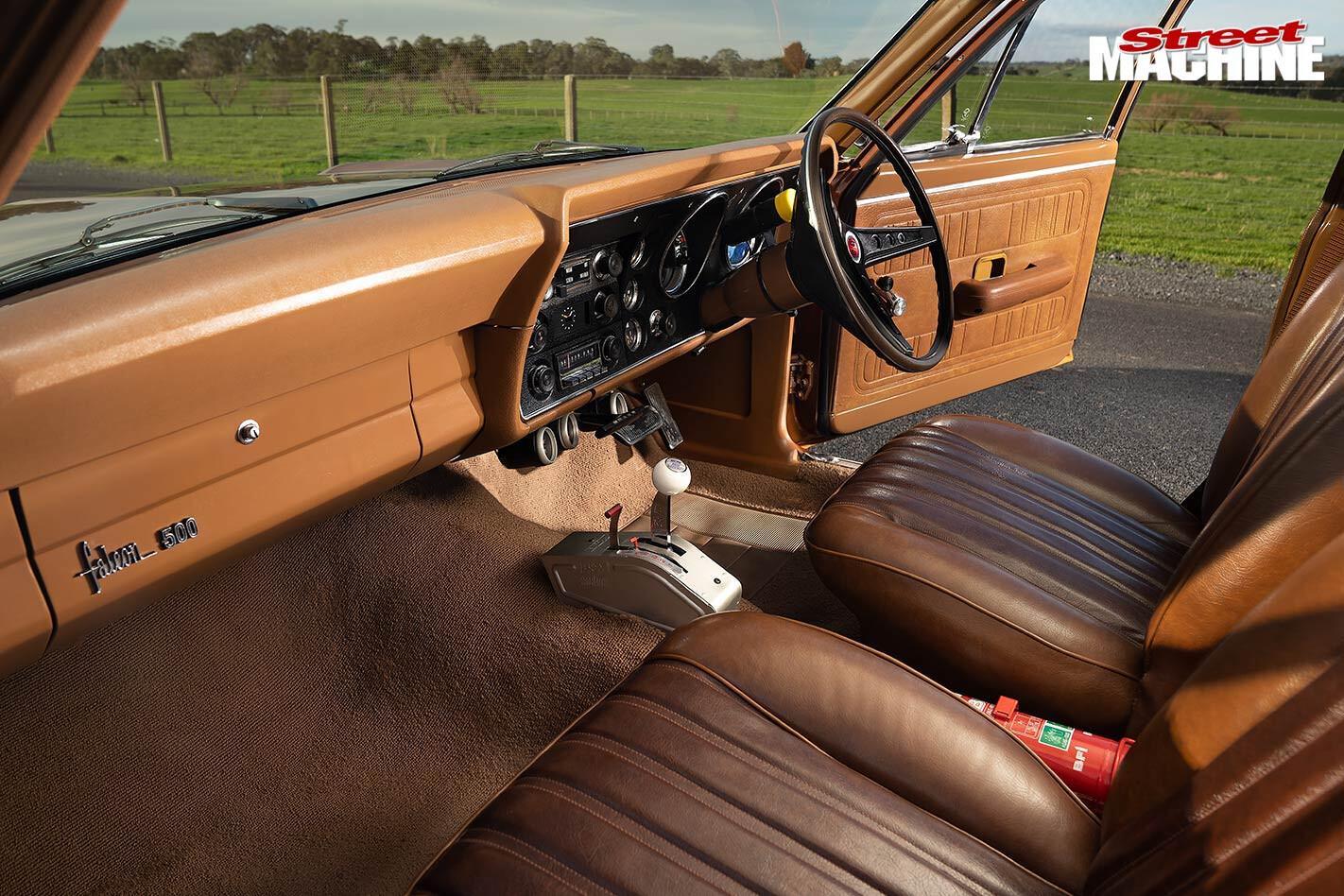 Ford XY Falcon 500 interior