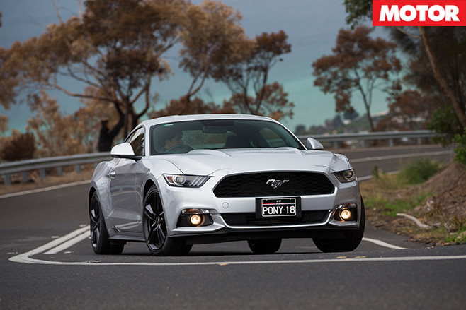 2016 Ford Mustang Ecoboost front driving