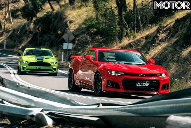 Ford Mustang R Spec Vs Chevrolet Camaro ZL 1 Drive Comparison Jpg