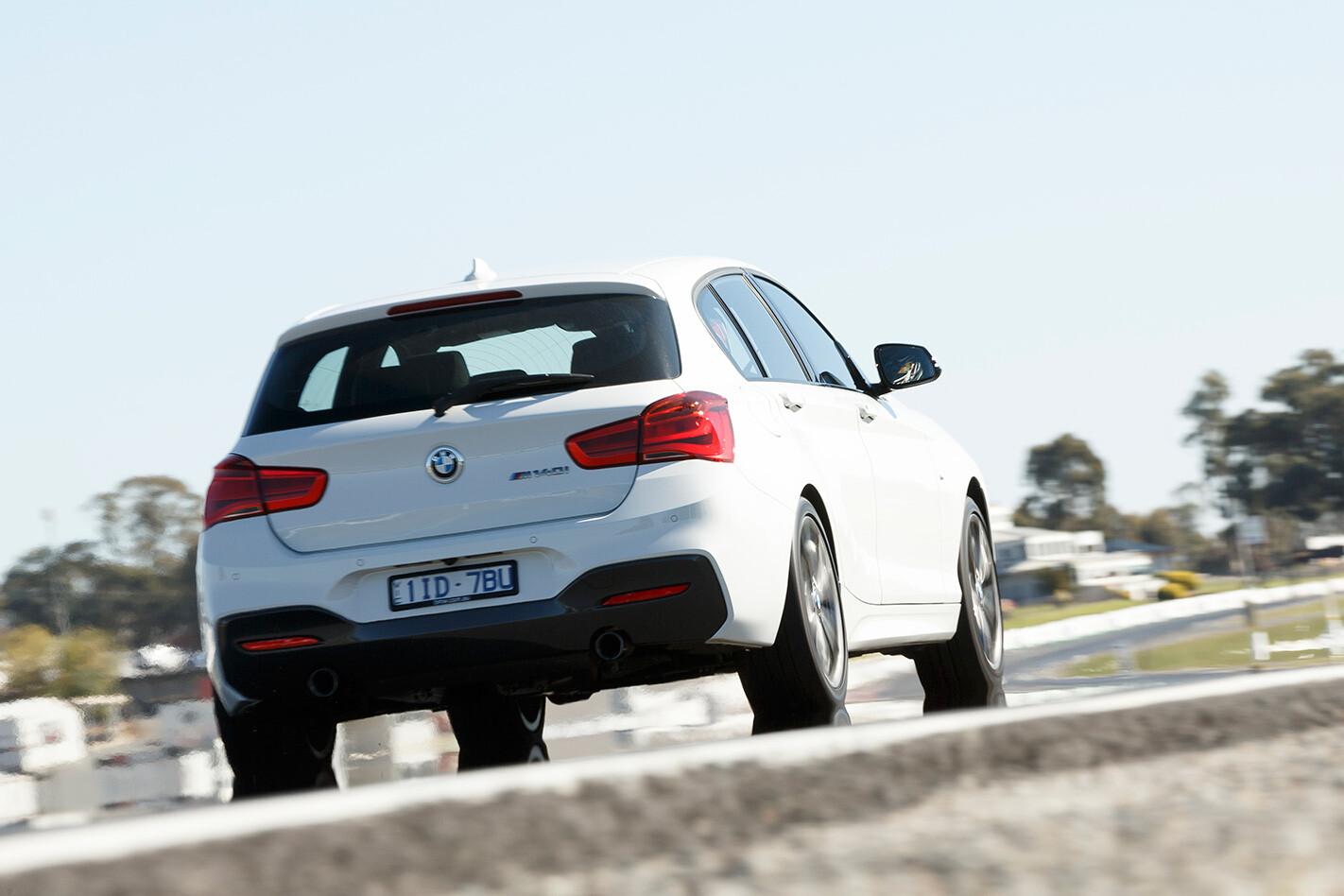 2017 BMW M140i tail.jpg