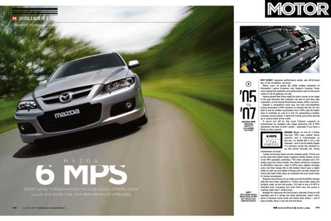 MOTOR Magazine October 2019 Issue Mazda 6 MPS Buyers Guide Jpg