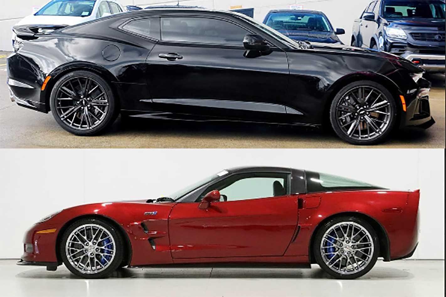 Chevrolet Camaro ZL1 vs Chevrolet Corvette ZR1
