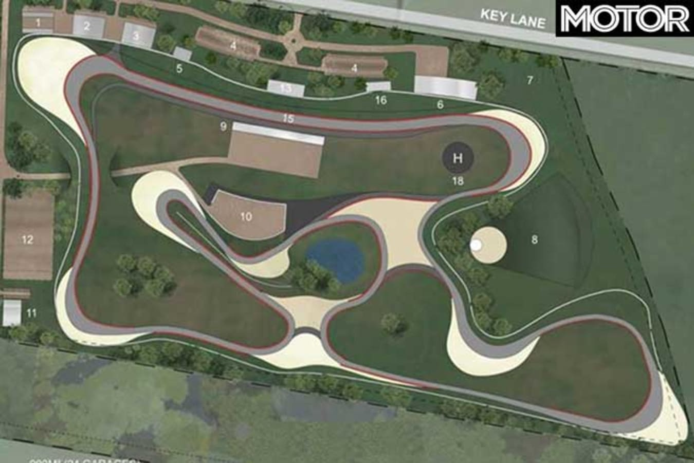 Melbourne Racetrack Cardinia Motor Complex Approved Map Jpg