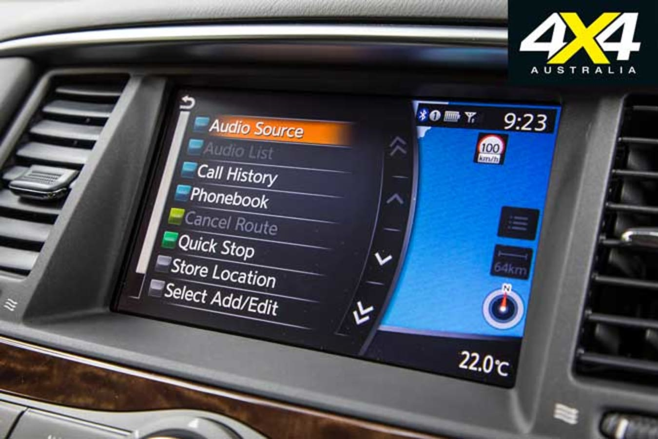 Nissan Patrol Ti Infotainment Screen Jpg