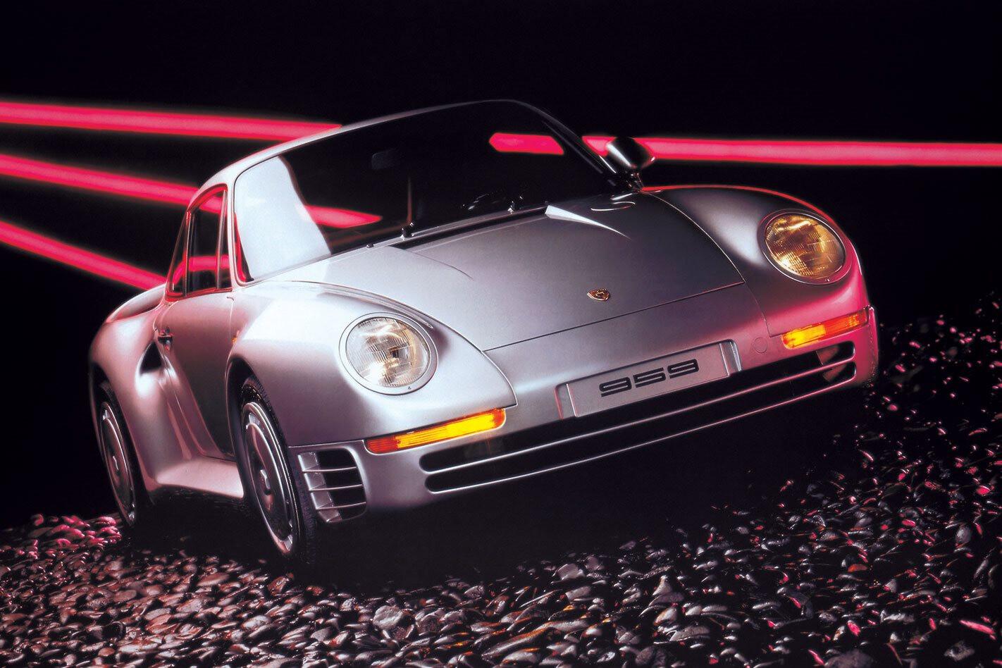 Porsche 959 neon