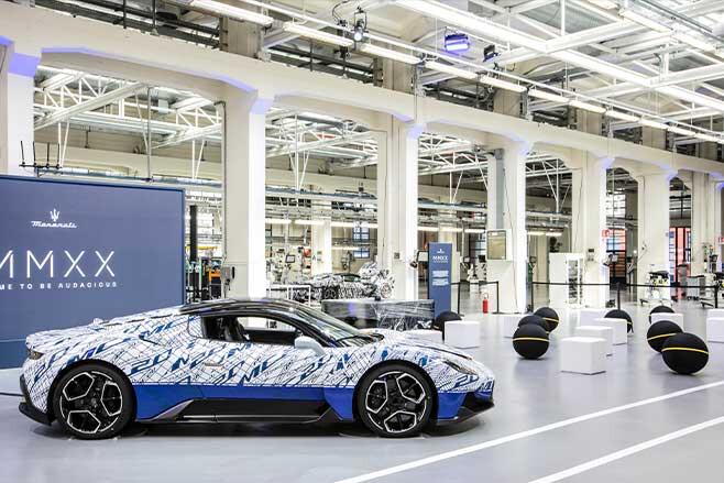 Maserati Via Ciro Menotti plant in Modena.