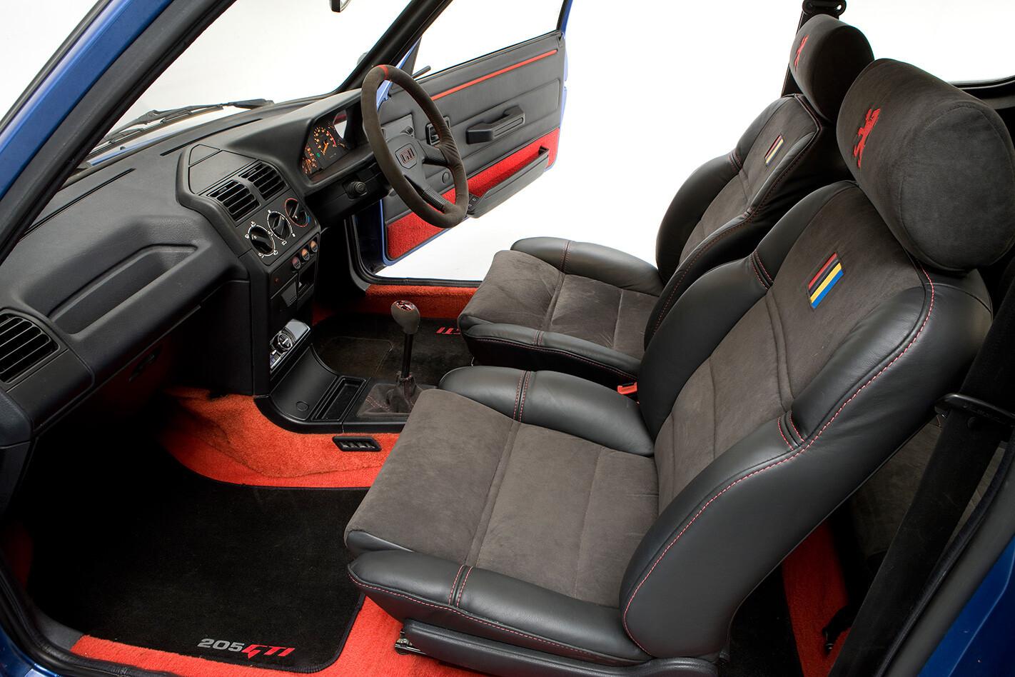 1987 Peugeot 205 GTi interior