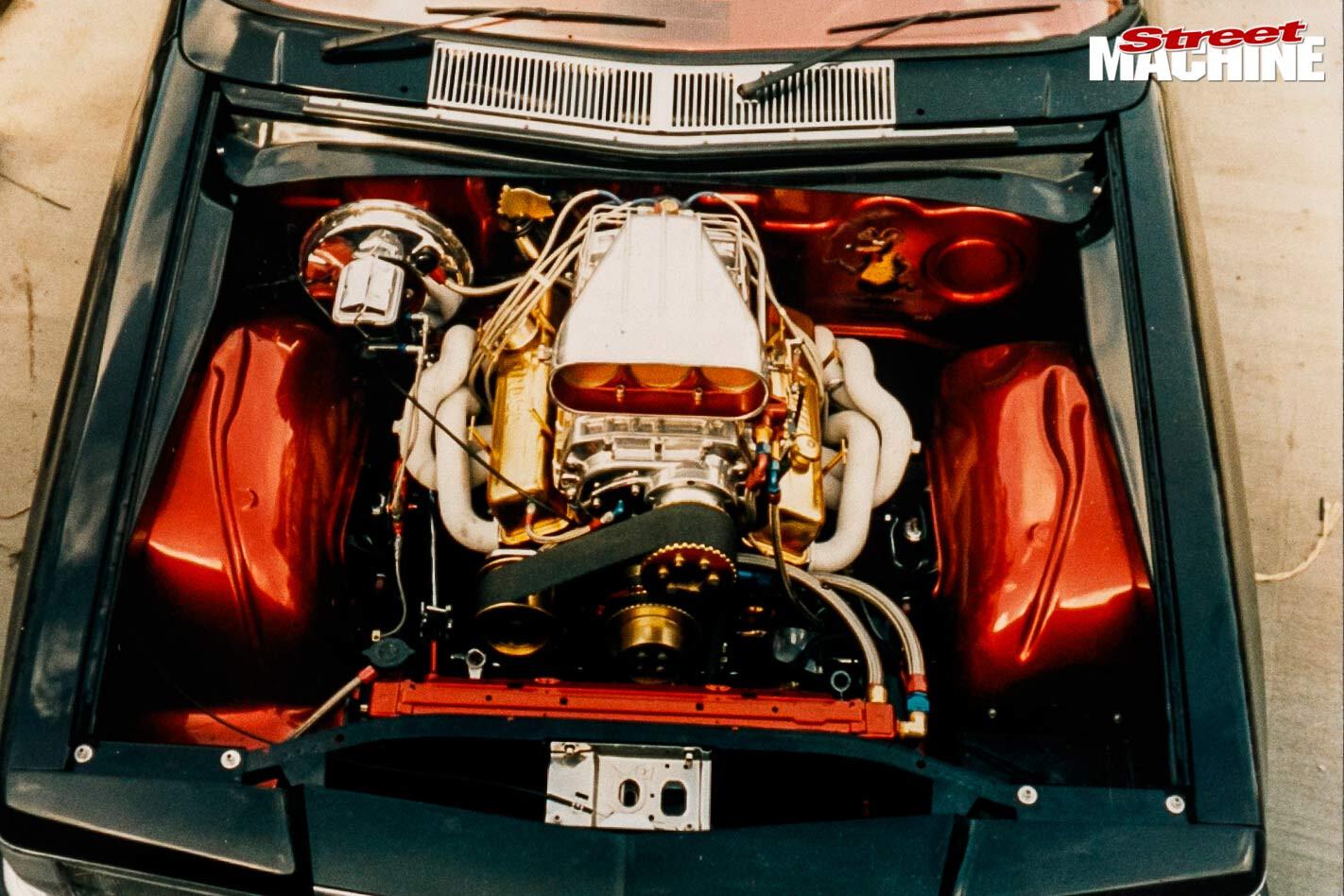 Holden WB ute engine bay