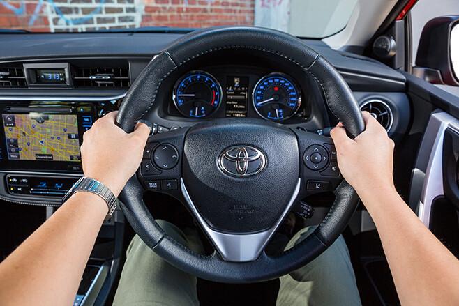 Correct steering wheel position