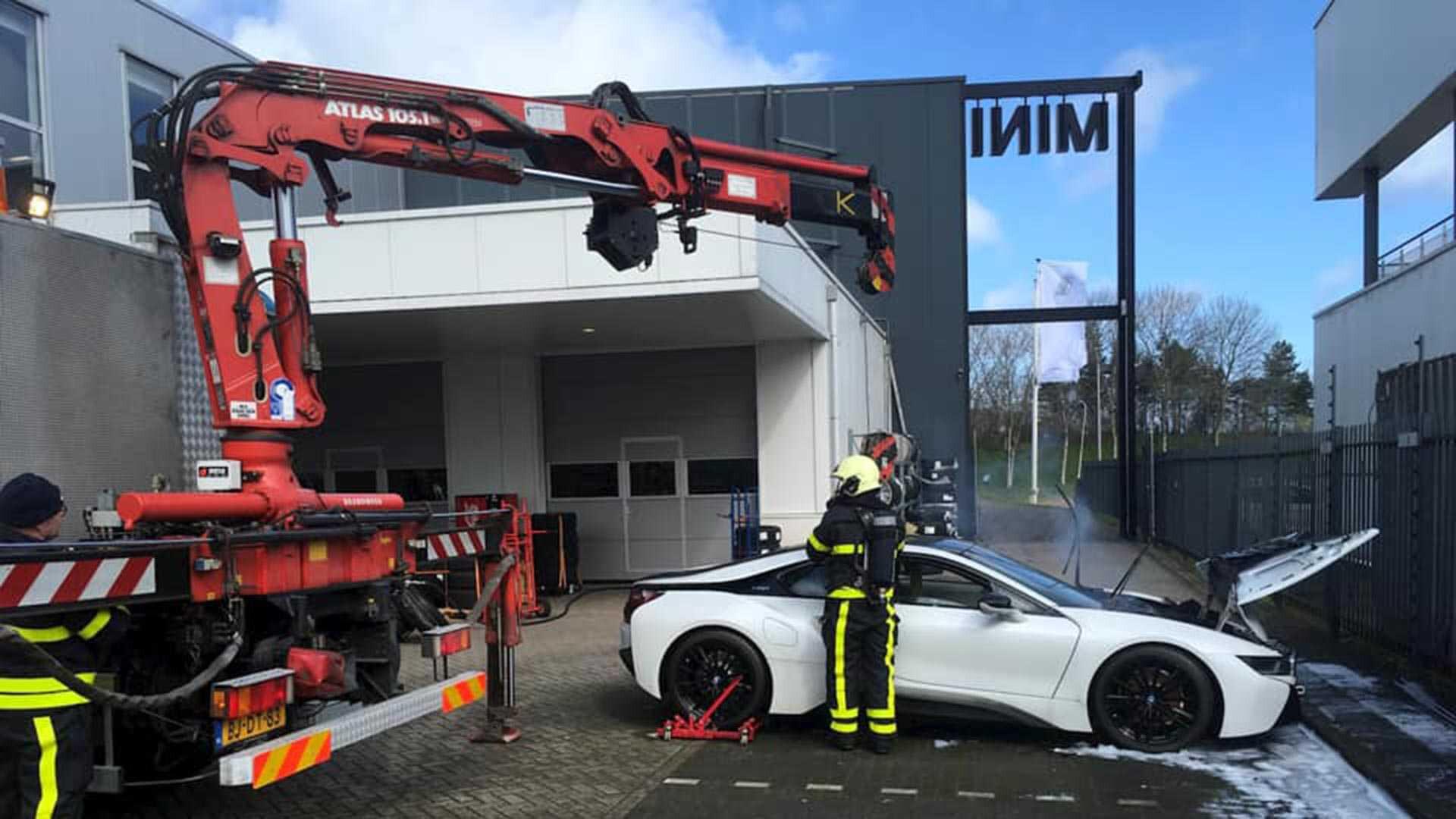 Bmw I 8 Fire In Netherlands Jpg