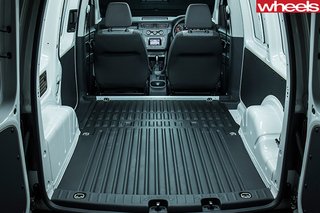 VW-Caddy -side -white -short -boot
