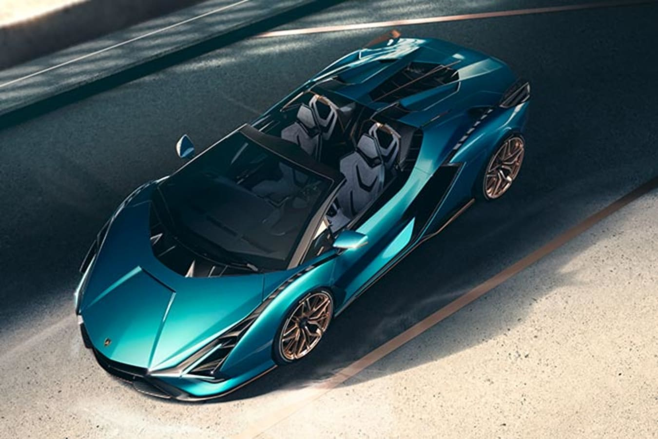 Lamborghini Sian Roadster top