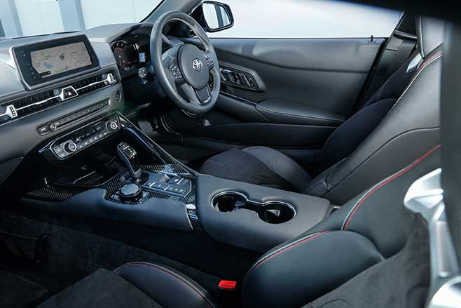 BMW bits are easy to spot in the Supra interior