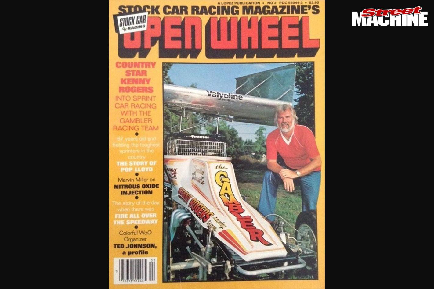 Kenny Rogers Open Wheel magazine