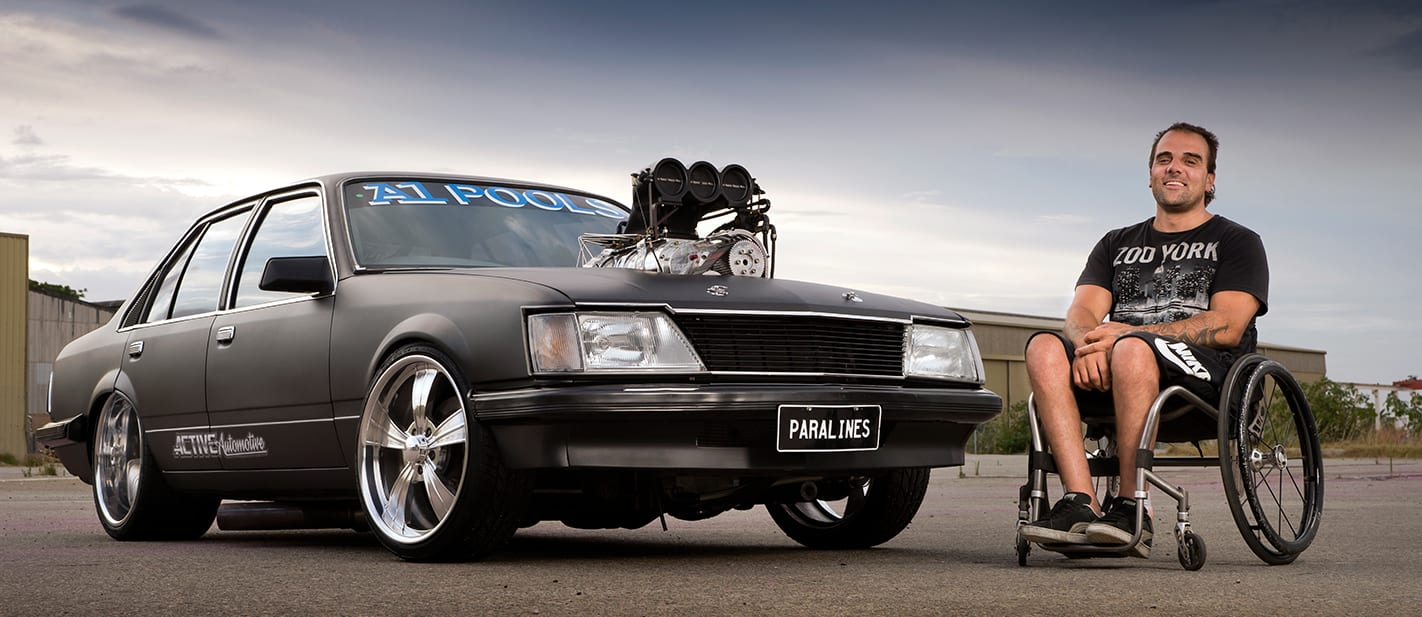 VH Commodore burnout car PARALINES