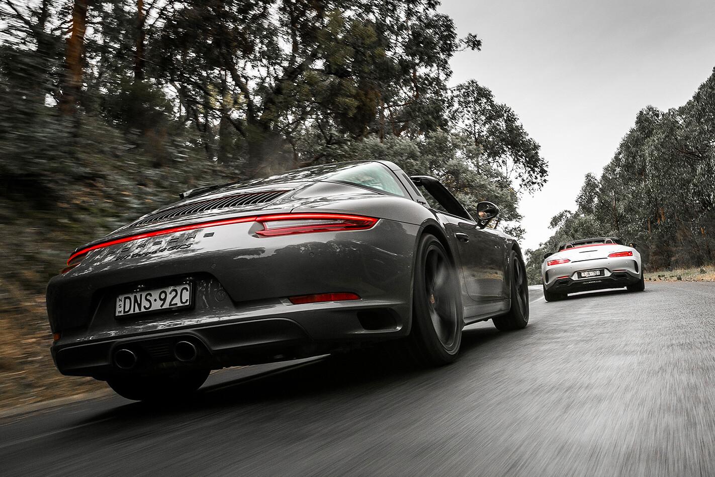 AMG GT C V 911 Targa Duo Rear Rolling Low Jpg