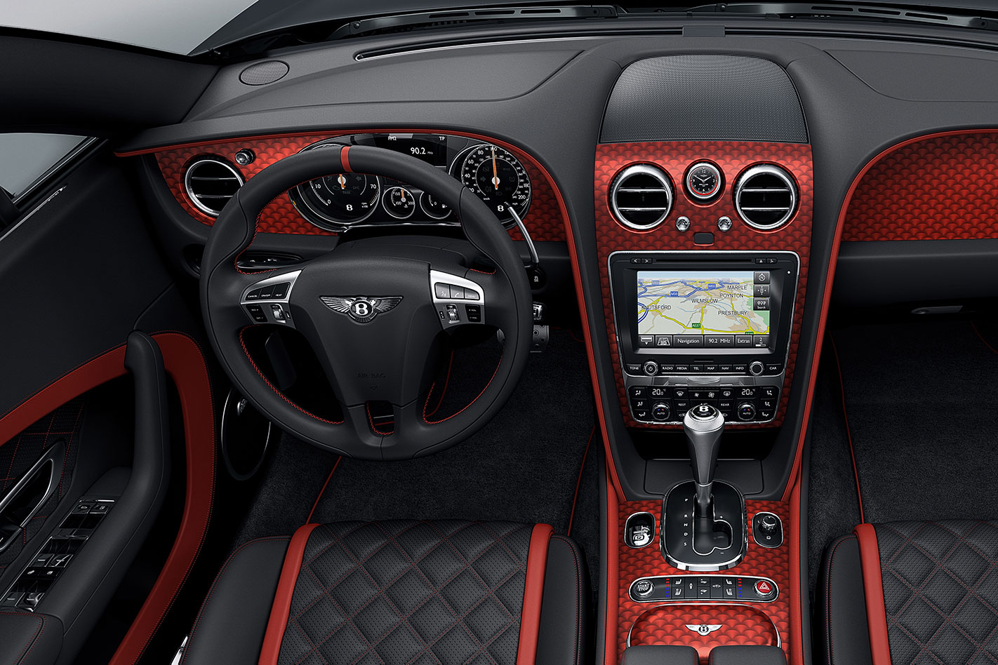Bentley -Continental -GT-Black -Speed -interior