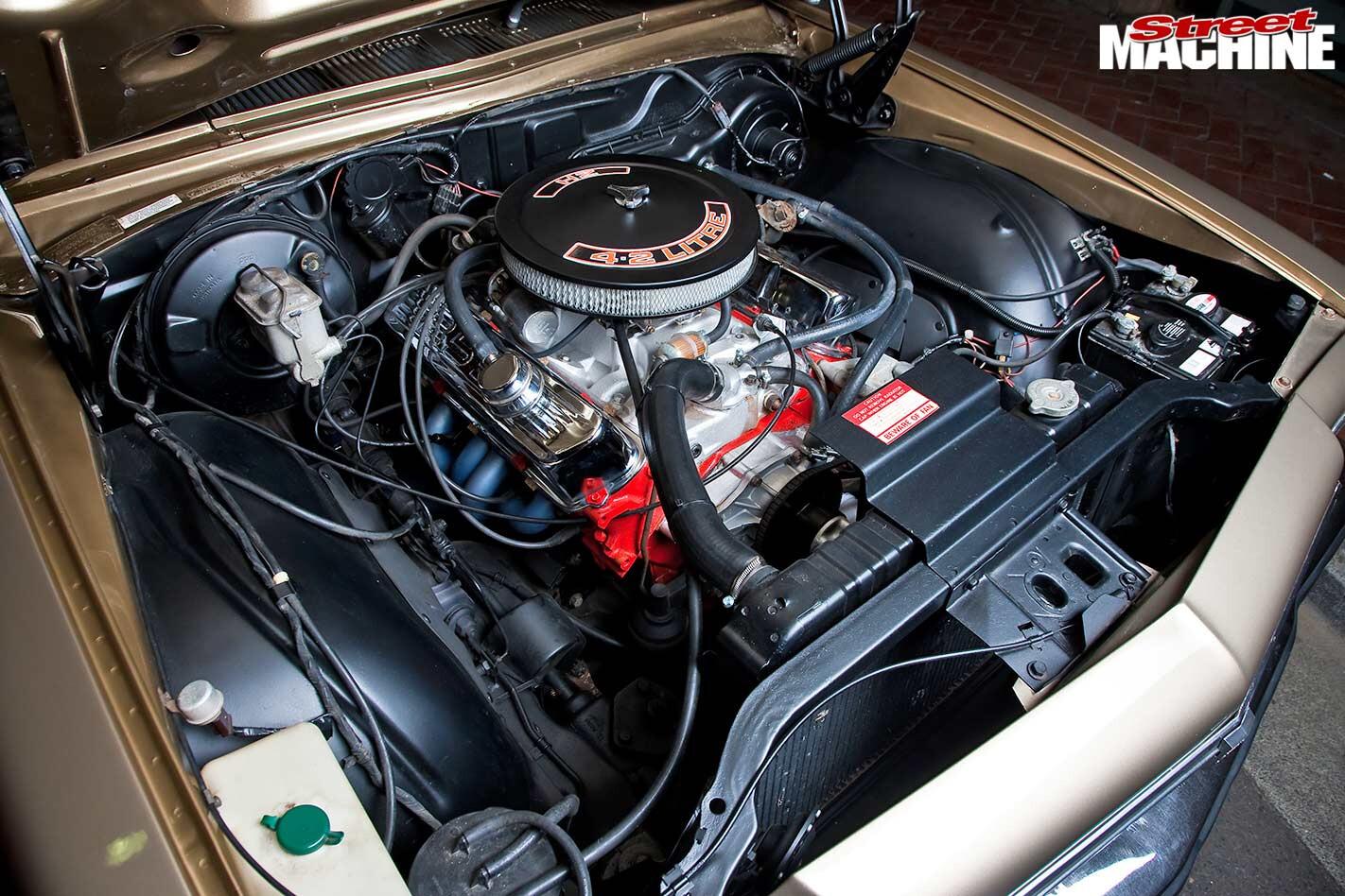 Holden HZ wagon engine bay