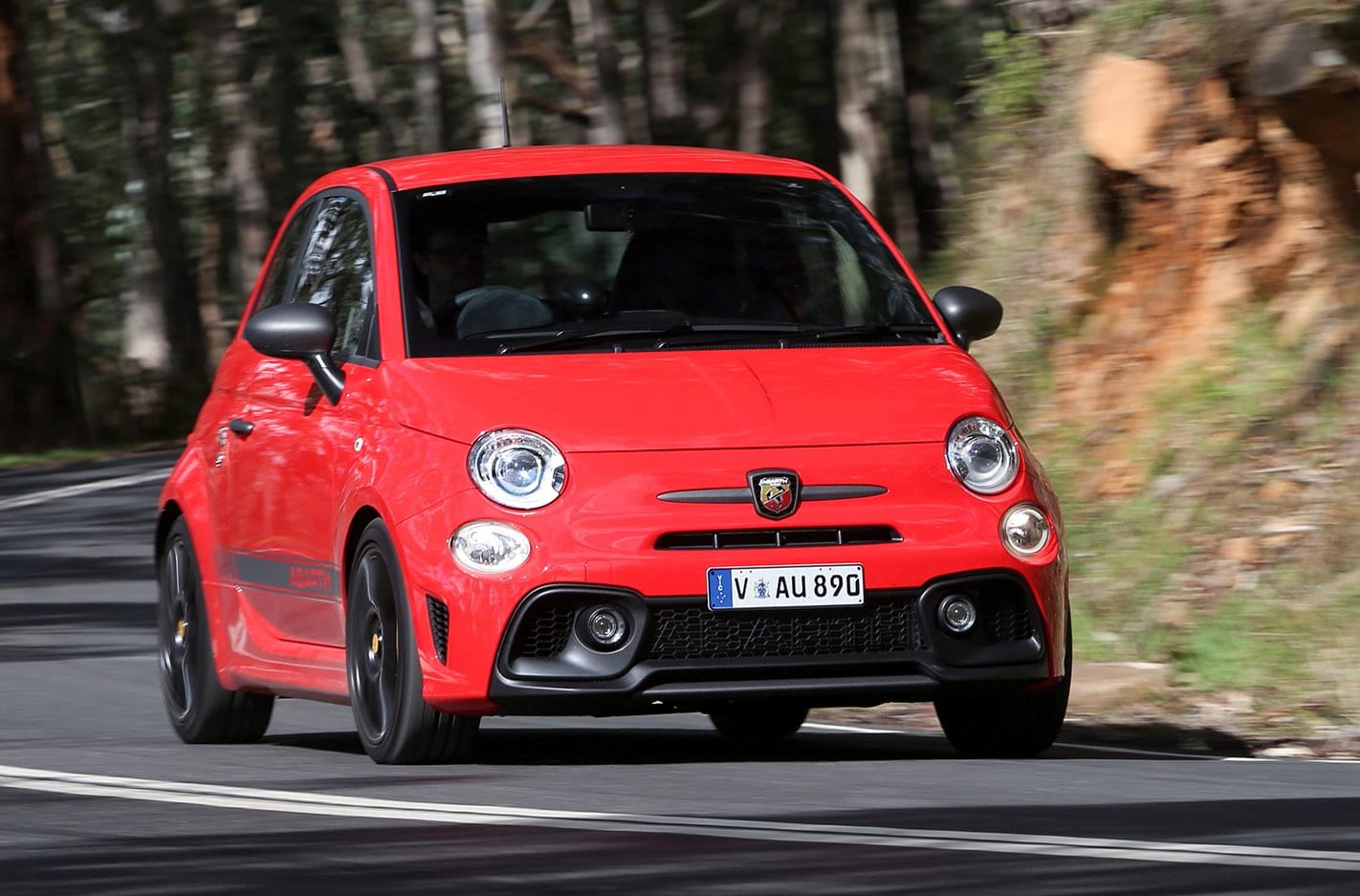 2018 Abarth 595 Front Side Action Jpg