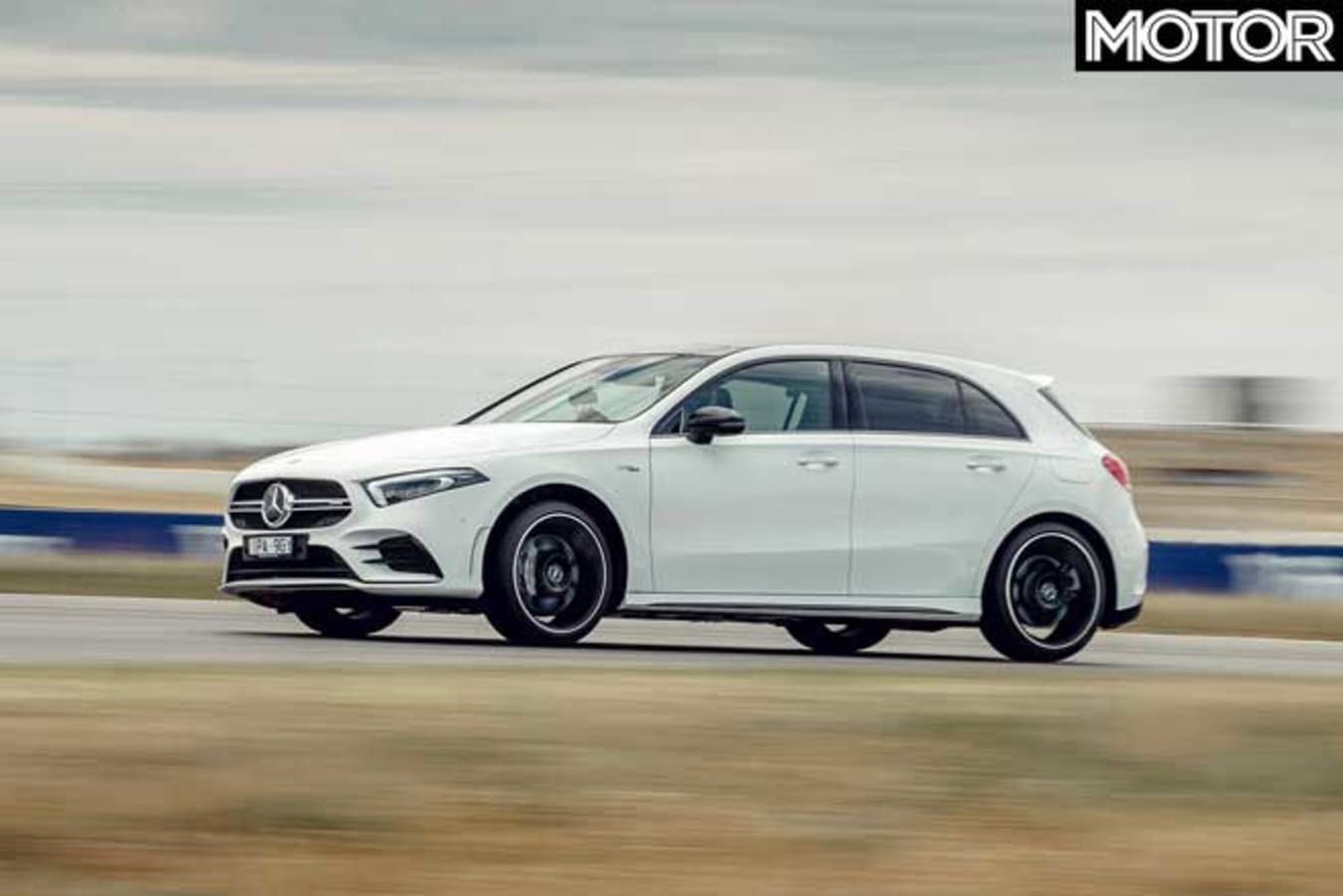Performance Car Of The Year 2020 Track Test Mercedes AMG A 35 The Bend Jpg