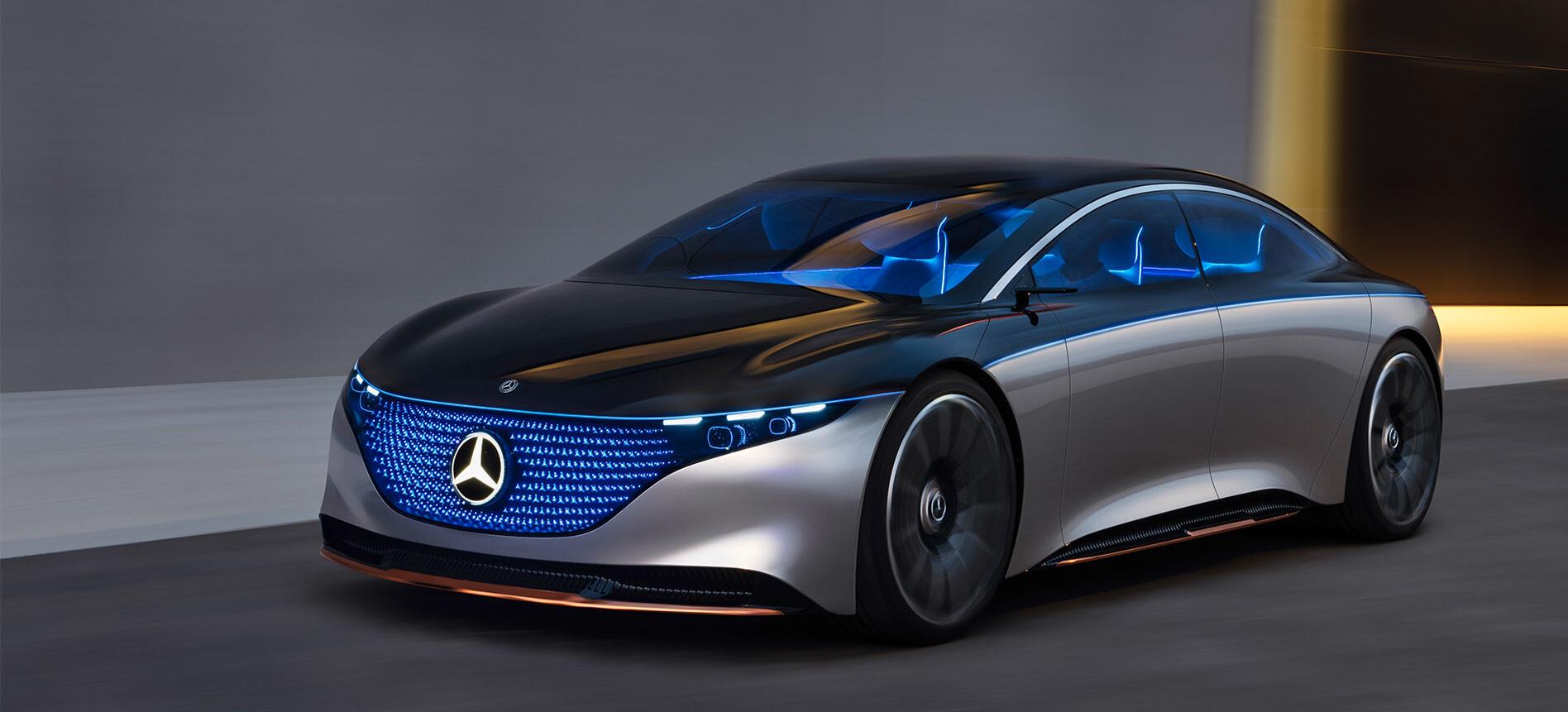Mercedes-Benz Vision EQS headlines electric push