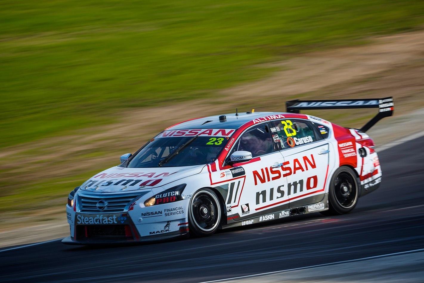 Nissan Altima racing at track