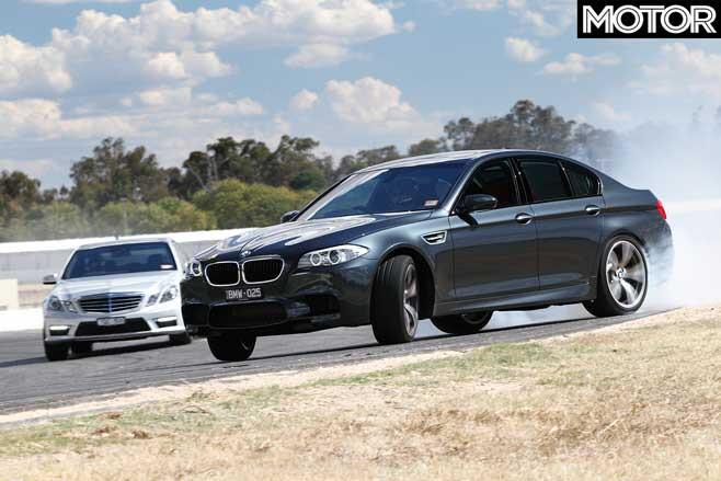 2010 BMW M 5 Vs Mercedes Benz E 63 AMG Track Comparison Jpg