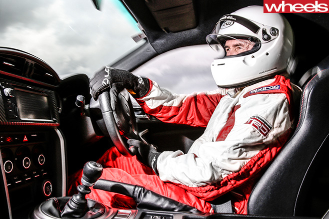 Toyota -86-Race -Car -driver -Neal -Bates -inside