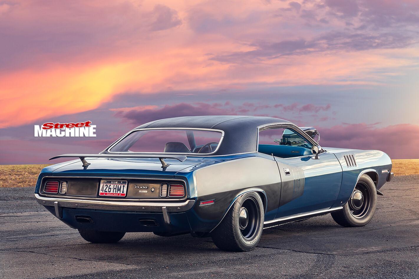 Plymouth -barracuda -rear -angle