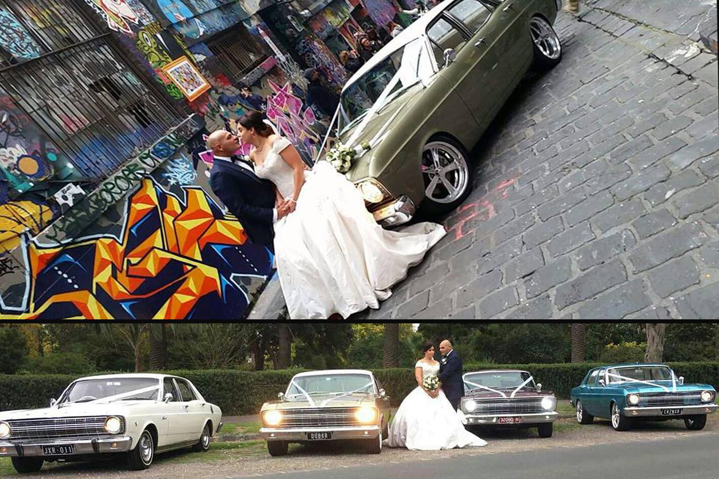 Tony Camilleri's wedding cars