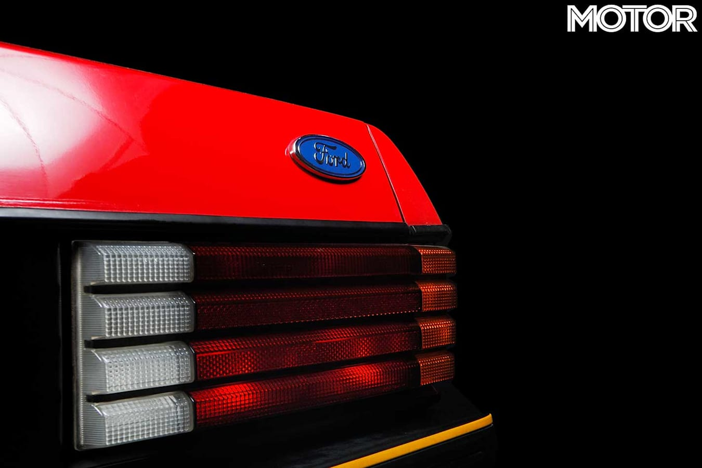 1982 Ford Falcon XE ESP Rear Badge Jpg