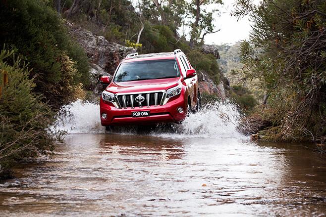 Toyota Landcruiser River crossing