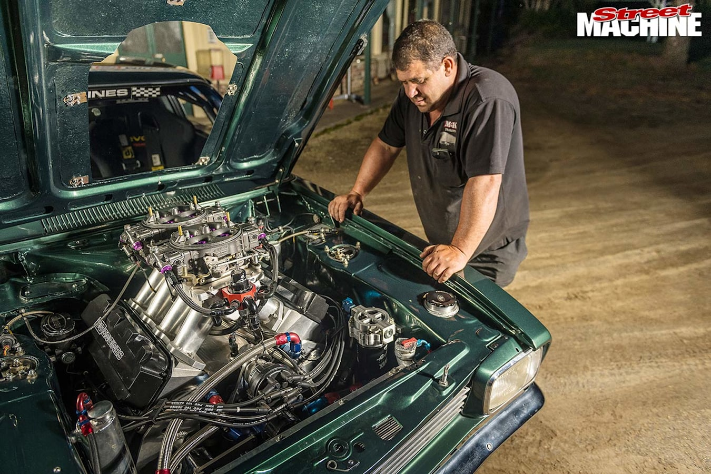 Alon Vella's Ford Capri engine bay