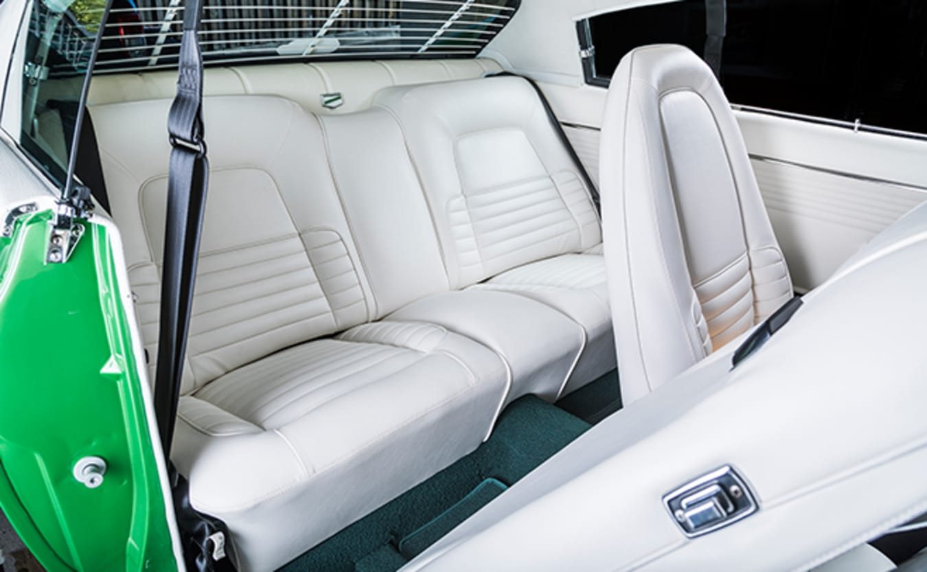 Valiant VH Charger interior rear