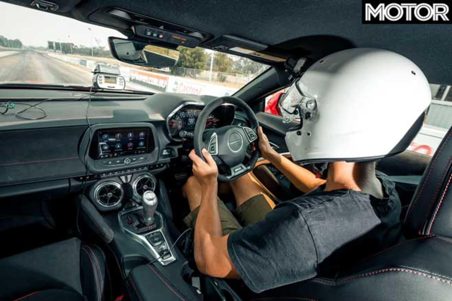 Chevrolet Camaro ZL 1 Long Term Review Update 1 Drag Strip Cockpit Jpg