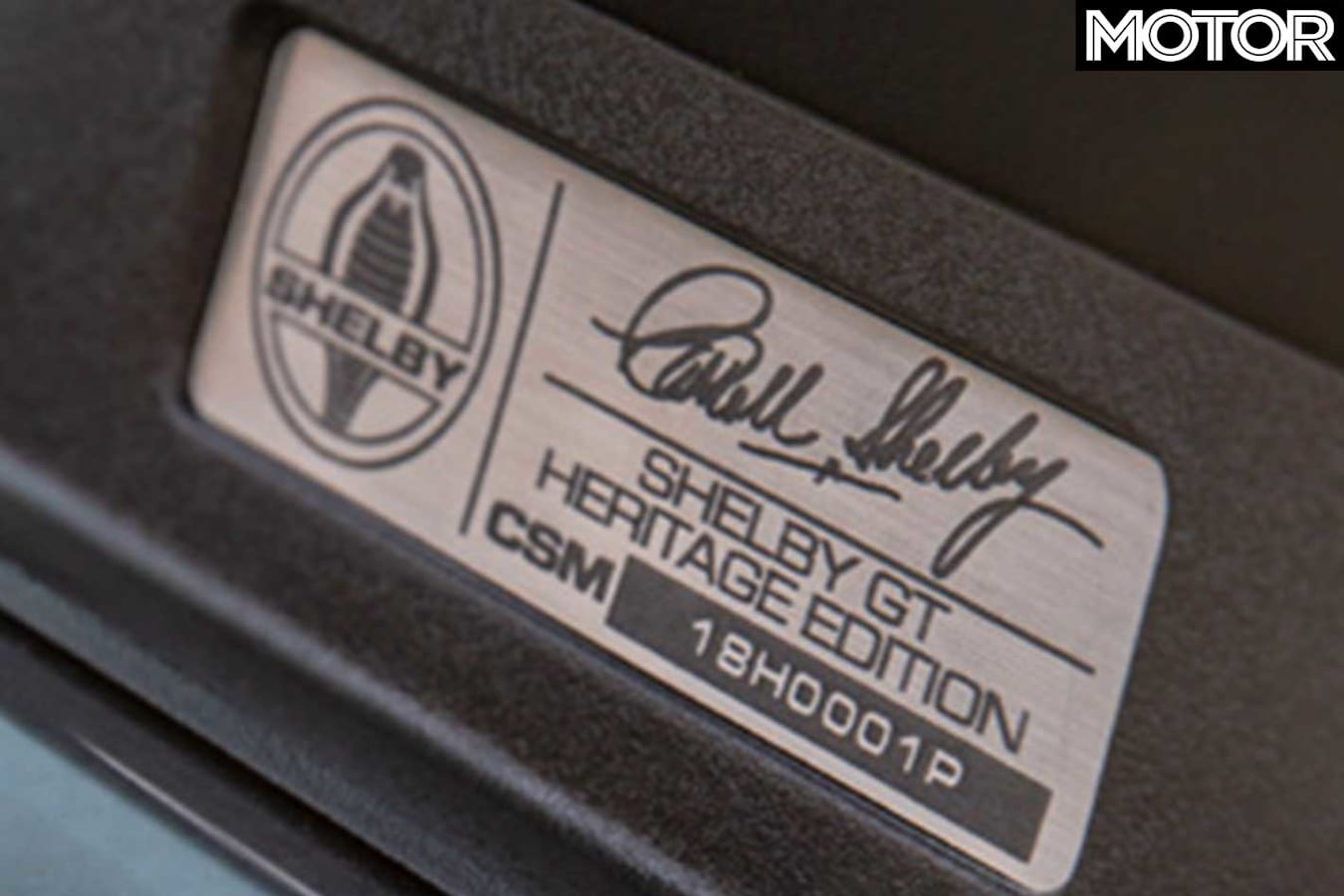 2019 Shelby Mustang GT Heritage Edition Build Plate Jpg