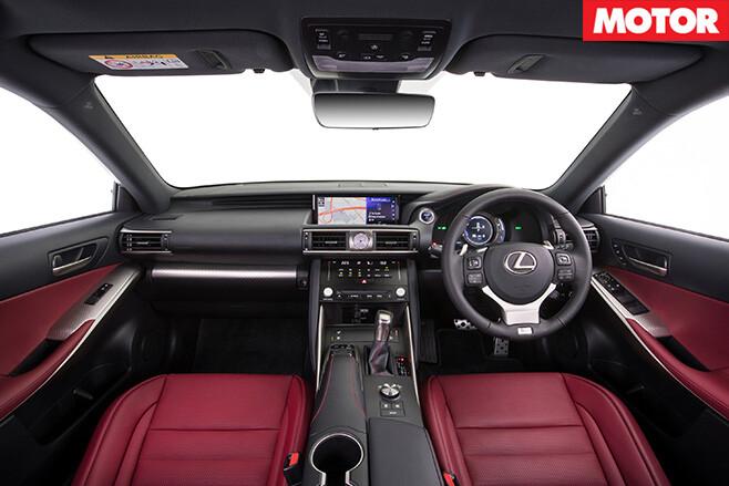 2017 Lexus IS sedan interior