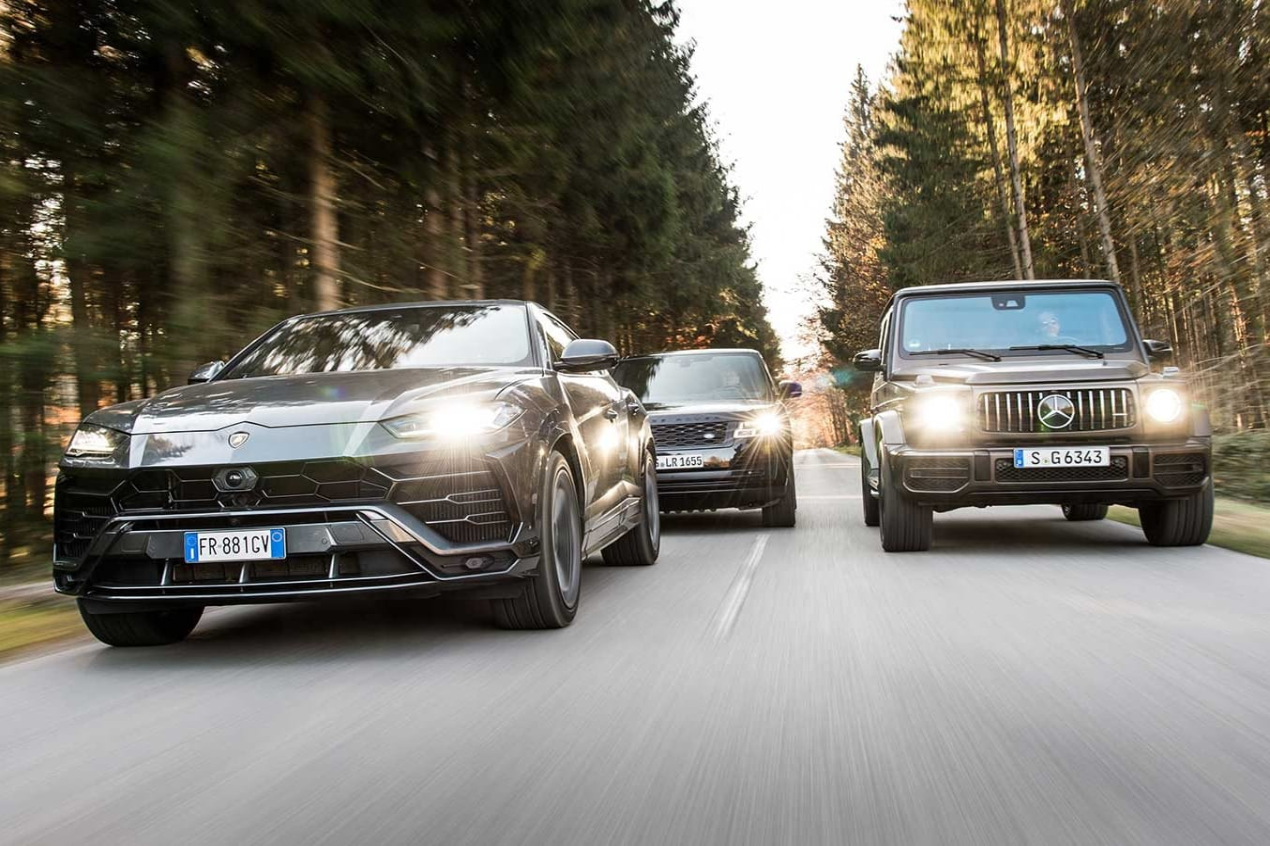2019 Lamborghini Urus vs Mercedes-AMG G63 vs Range Rover performance comparison review