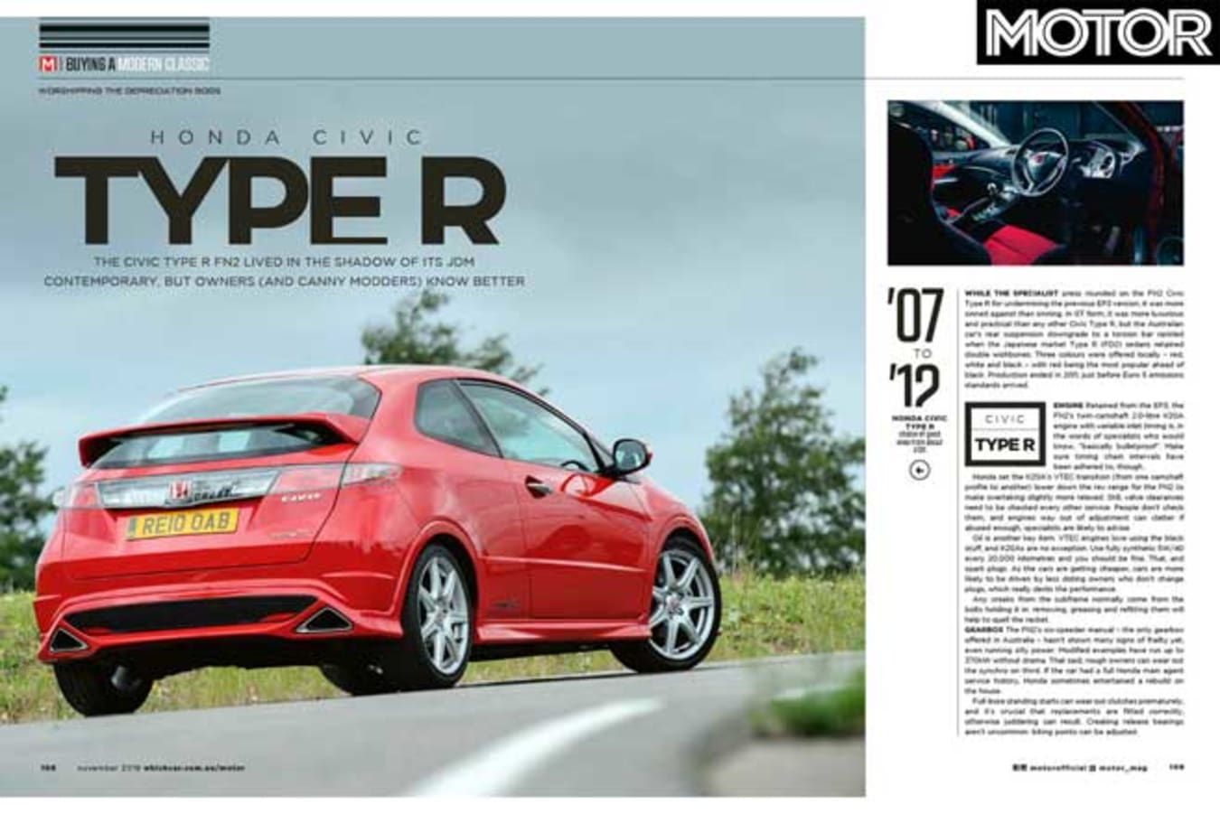 MOTOR Magazine November 2019 Issue Preview Used Car Type R Buyer Guide Jpg