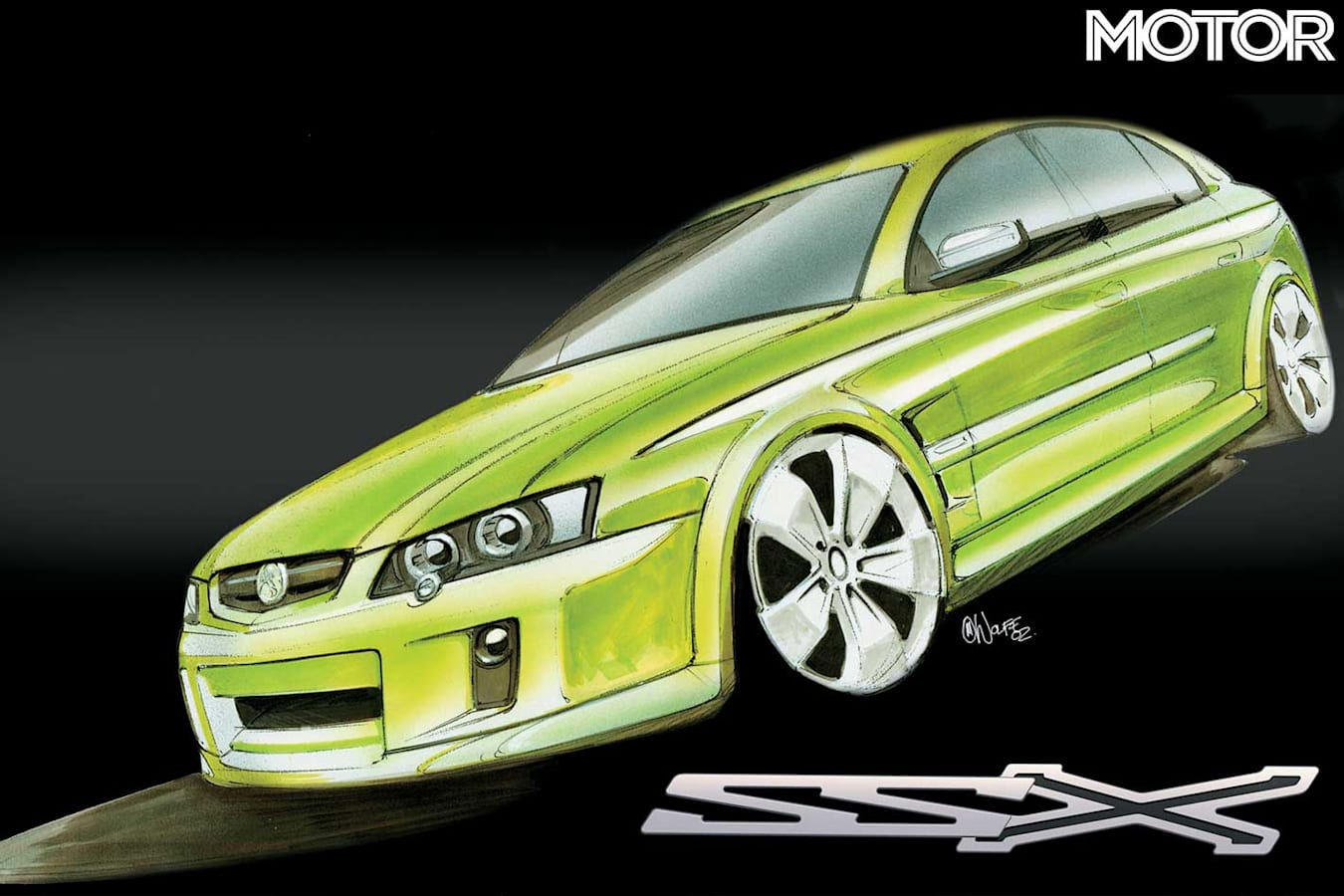 Holden SSX AWD V 8 Concept Drawing Jpg