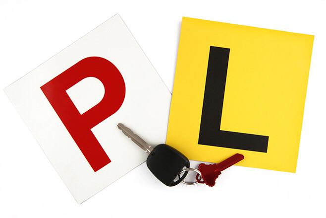 P-Plate L-Plate Car Keys