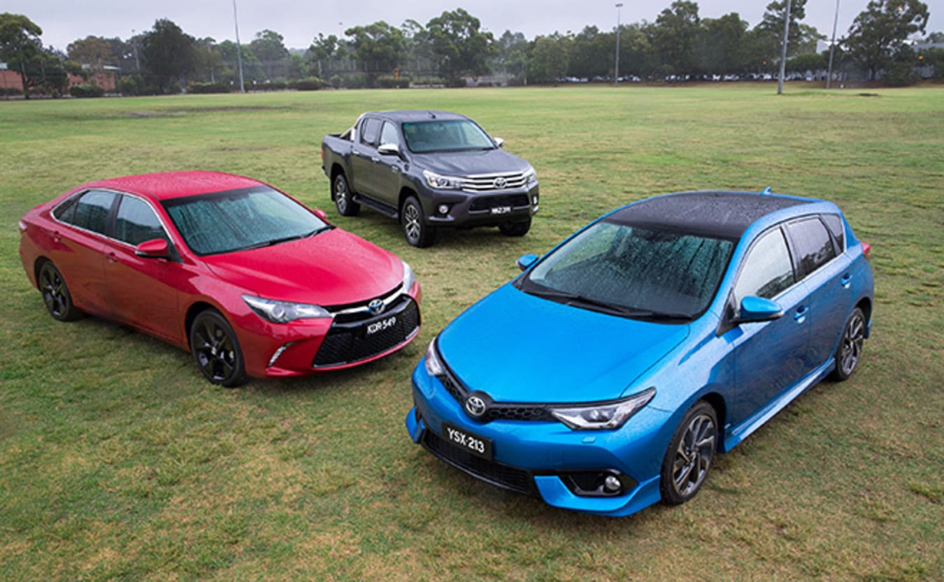 Toyota Corolla Camry and HiLux