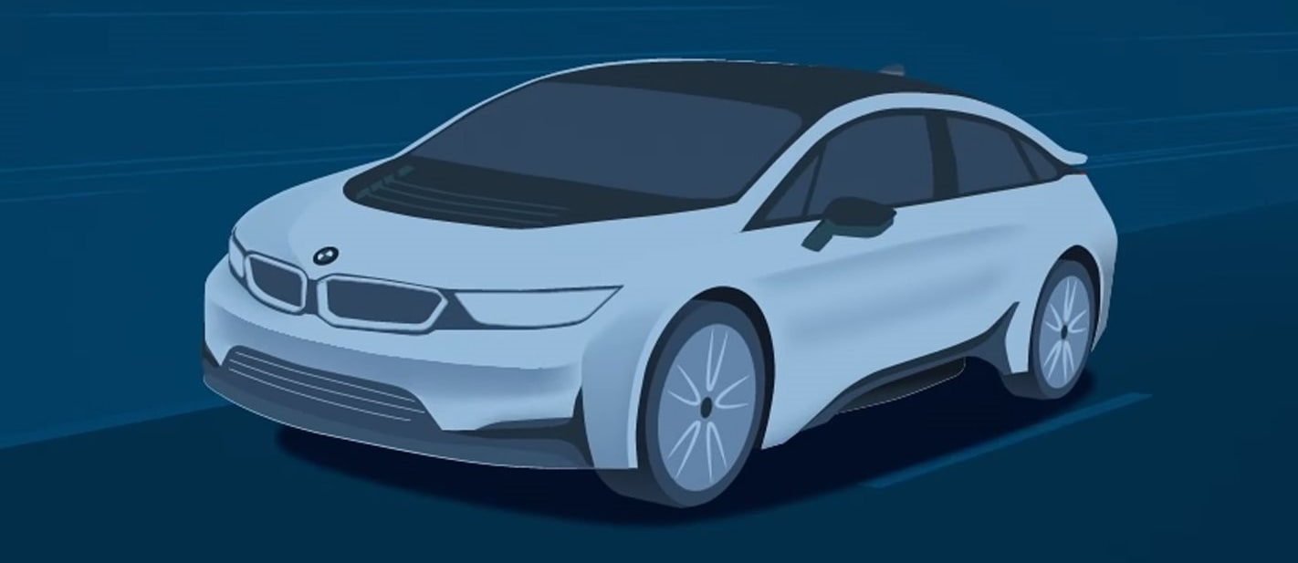 BMW i5 electric sedan previewed ahead of official reveal