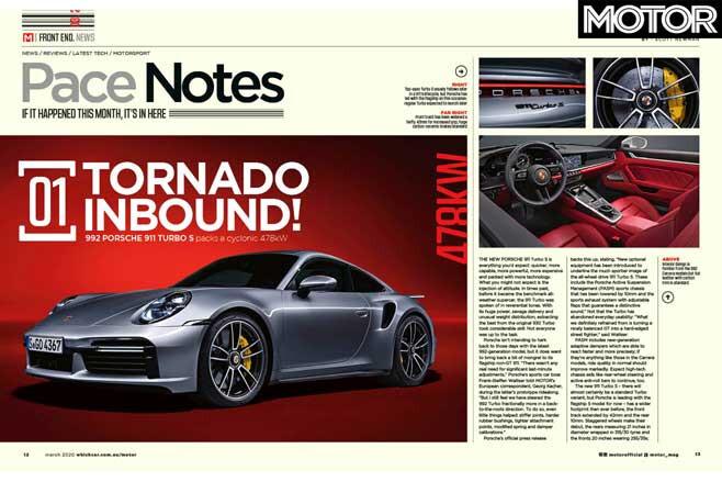 MOTOR Magazine March 2020 Issue 911 Turbo S Jpg