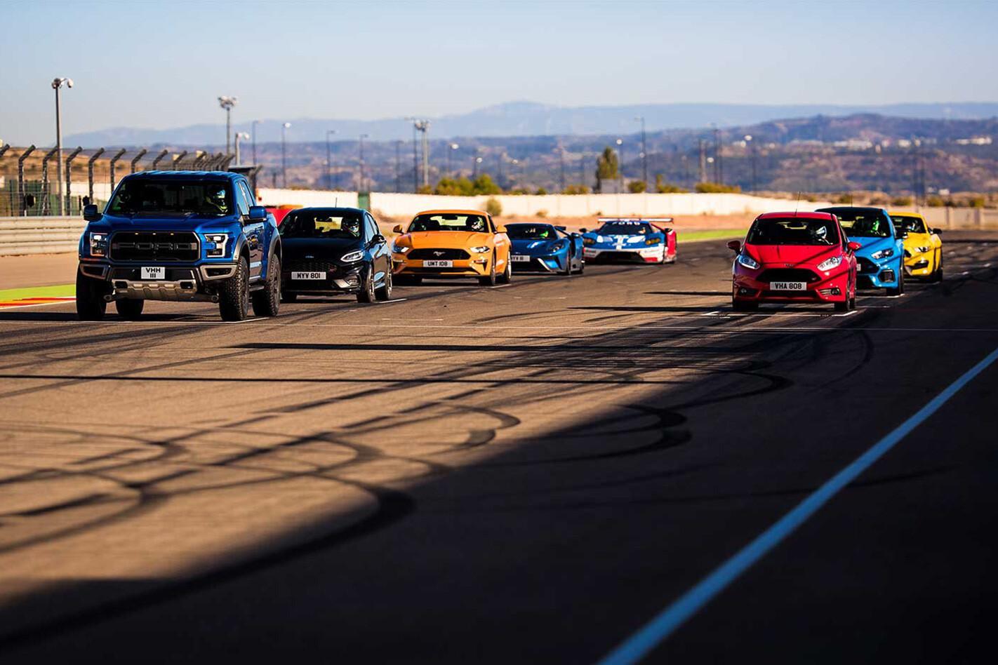 Ford Performance Line Up Jpg