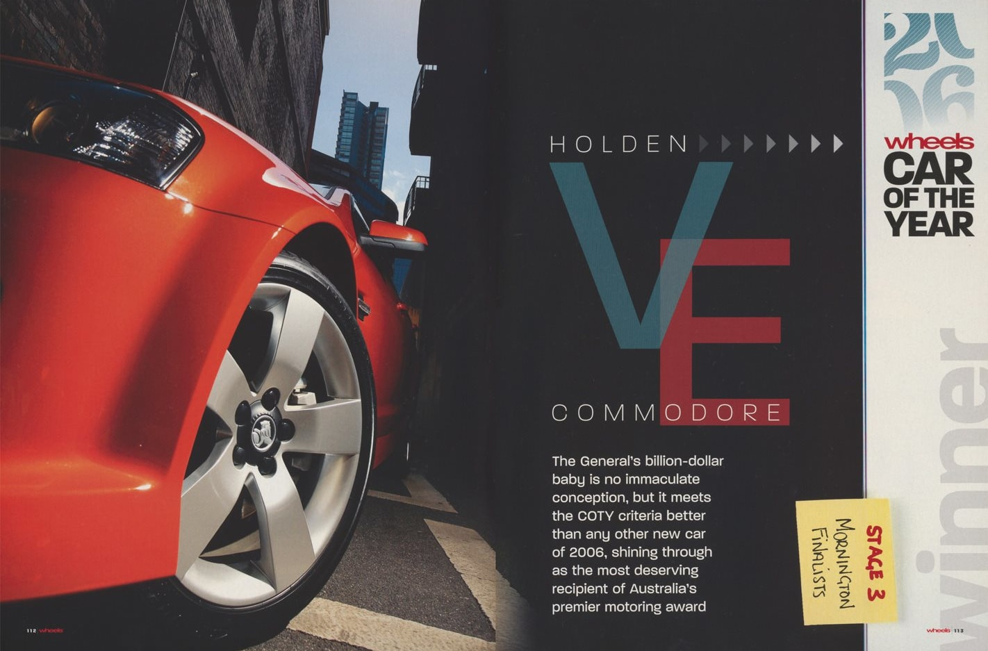 2007 Wheels Car of the Year: Holden VE Commodore